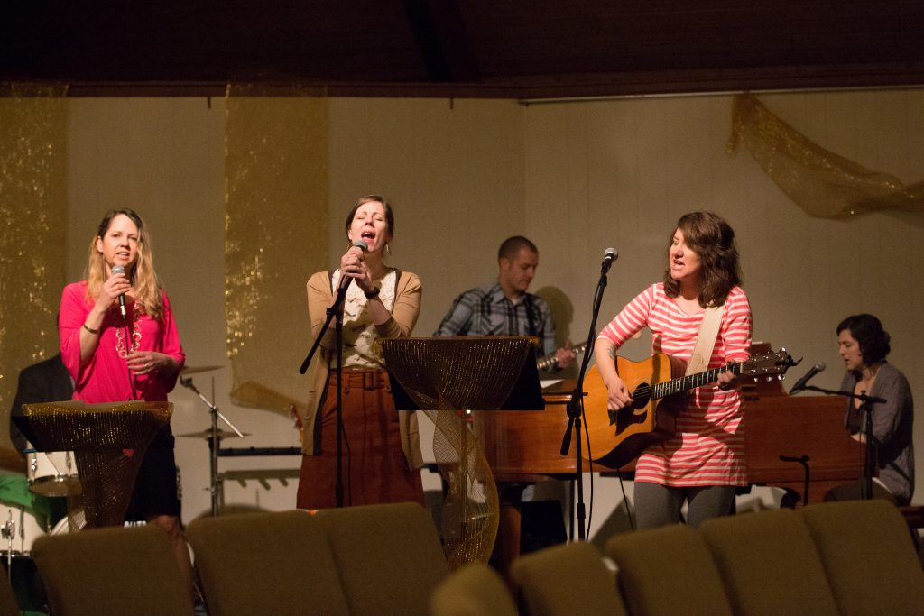 Musicians leading a time of singing